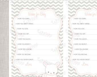Wishes for Baby PDF printable advice cards