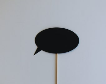 Chalkboard Photo Booth Prop Talk Bubble - Great addition to any photobooth prop set.