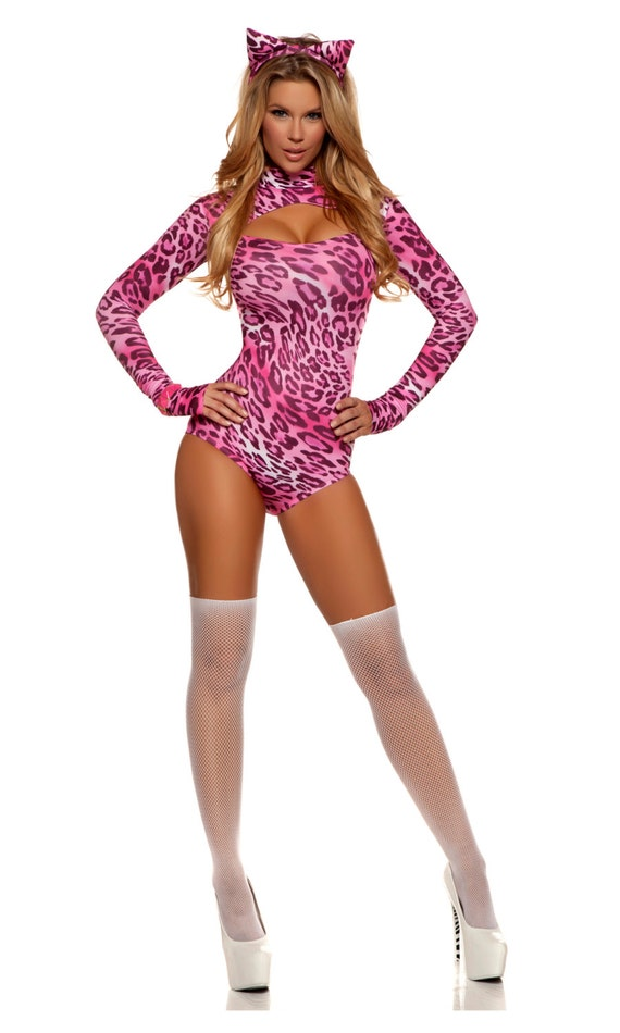 Items Similar To Kitty Sexy Cat Costume Pink Leopard