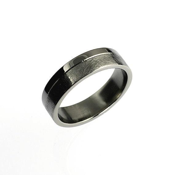 Modern Palladium Wedding Band Wide Ring By TorkkeliJewellery