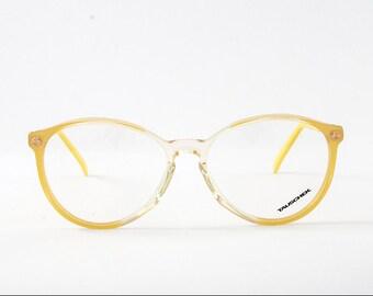 Vintage Round Tauschek Frames. Glossy Yellow-Transparent Frames.