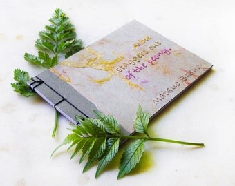 Haiku Japanese Notebook. Zen Notebook. Embroidered A6 Notebook. Basho Poem Notebook. Wabi Sabi Notepad. Pocket Poetry Journal. Zen Mini Book