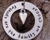 Hand Stamped Friendship Necklace, friend gift