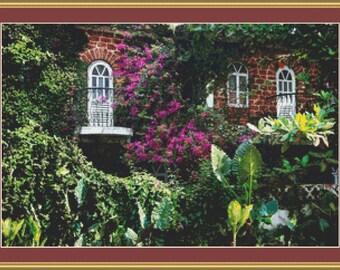 A Peaceful Garden Cross Stitch Pattern
