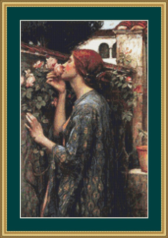 The Soul Of The Rose Cross Stitch Pattern /Digital PDF Files /Instant downloadable