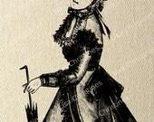 Victorian Dress Instant Download Digital Transfer / 90