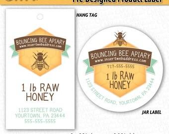 Striking image with honey jar labels printable