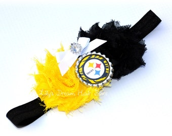 Pittsburgh Steelers headband nfl fan headband football fan headband steelers