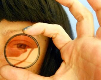 Vintage Glass Lenses - 3 Vintage Optical Lenses, Camera Lens Filters for Mixed Media, Altered Art Assemblage, Steampunk Goggles