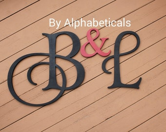 wooden monogram initial monogram initials wooden signs wall decor wooden letters wall letters his and hers wall hanging large alphabeticals
