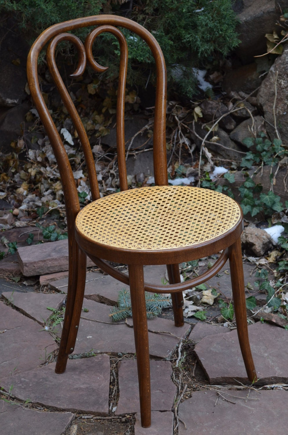 Vintage Bentwood Thonet Cafe Chair Made In Romania Stamped