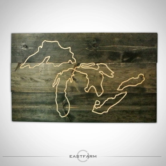 The Great Lakes wood board