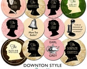 2014 Printable Downton Style Cupcake Toppers 2 inch