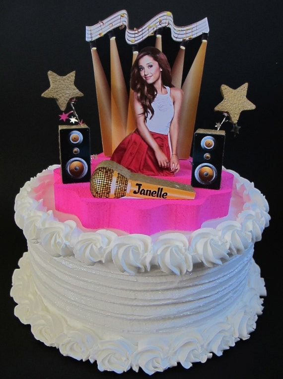 Items Similar To Ariana Grande Cake Topper 3d Victorious