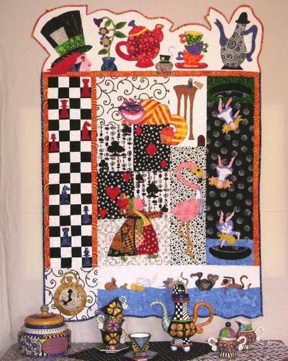 Goin Tea Party Mad Quilt Pattern Alice In Wonderland Diy