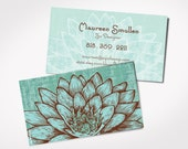 250+ Premium Yoga Instructor Business Cards - Holistic Practitioner , Blue LOTUS FLOWER  Yoga , Student ,  Massage,