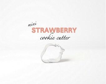 Mini Strawberry Cookie Cutter - Fruit - Summer - Cookies - Shortcake - Birthday - Parties