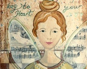 Angel of Quiet Heart - Art Print 21 x 30 cm/ 8,3 x 11,8 in