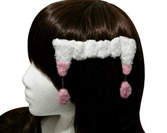 Creepy Cute Plushy Vampire Fangs Hair Clip