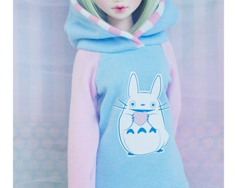BJD Hoodie for Slim MSD Minifee or SD - Heart Totoro