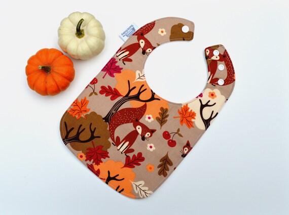 Baby Bib / Fall / Fox Bib / Harvest / Fox / Autumn / Seasonal Baby Gift