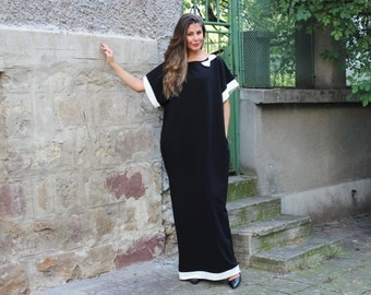 Black Caftan dress, Maxi dress, Caftan, Party dress, Elegant dress, Oversized dress