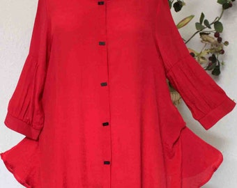 Dare2bstylish Dashing and stylish Spring Summer Lagen look Plus size blouse, M to 3XL