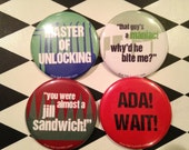 """Classic Resident Evil 2 1/4"""" pinback buttons"""
