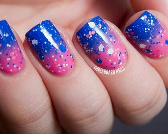 Mr. Bubble-Custom-Blended Indie Glitter Nail Polish / Lacquer