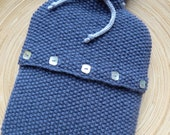 ENOR - Hot Water Bottle Cover - Wool & alpaca - Blue - other colors made to order - free shipping worldwide