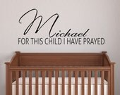 Personalized baby nursery Wall Art Decor Name