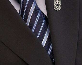 White Swiss Shepherd brooch - sterling silver