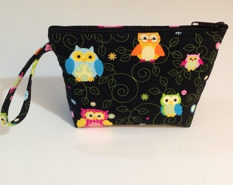 Night Owls Make Up Bag - Accessory - Cosmetic Bag - Gift