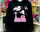 Ghost Graveyard Hoodie Hooded Sweatshirt Kawaii Fairy Kei Pastel Goth