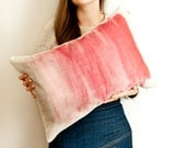 Candyfloss Cushion in pink watercolor, Ombré pillow