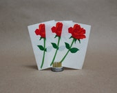 Vintage Mrs. Grossman's Rose Stickers Circa 1990- Set of 3- Vintage Paper Ephemera