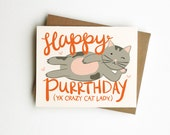 Priority Mail For Anne - Crazy Cat Lady Birthday Purrthday Card