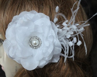 Very  cute  white color    flower with  feather
