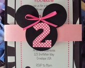 Minnie  Mouse Invitations | Minnie Mouse Birthday Invitation | Minnie Mouse Party Invitation | Minnie Mouse Birthday Party |