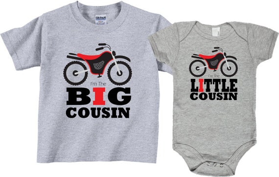 Big Cousin Little Cousin Sibling Shirt Sets Dirt By TheCuteTee