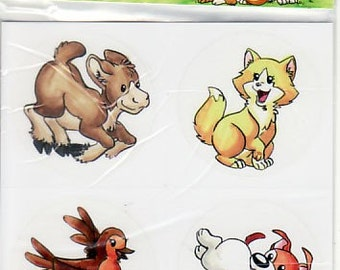 Stickers serie 2, Petit Pois Collection stickers for kids with cute animals