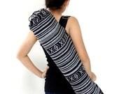 Handmade Yoga Mat Bag Yoga Bag Sports Bags Sling bag Pilates Bag Pilates Mat Bag Woven Bag Women bag Woven Cotton bag Black & White (WF1)