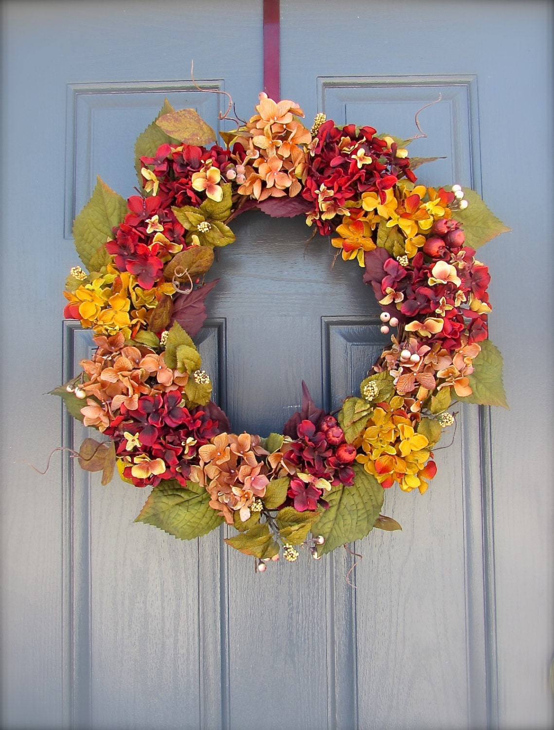 Fall door wreath fall colors autumn wreath door wreath Fall autumn door wreaths