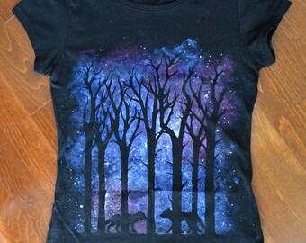 Wolves T-Shirt (Blue-Purple)