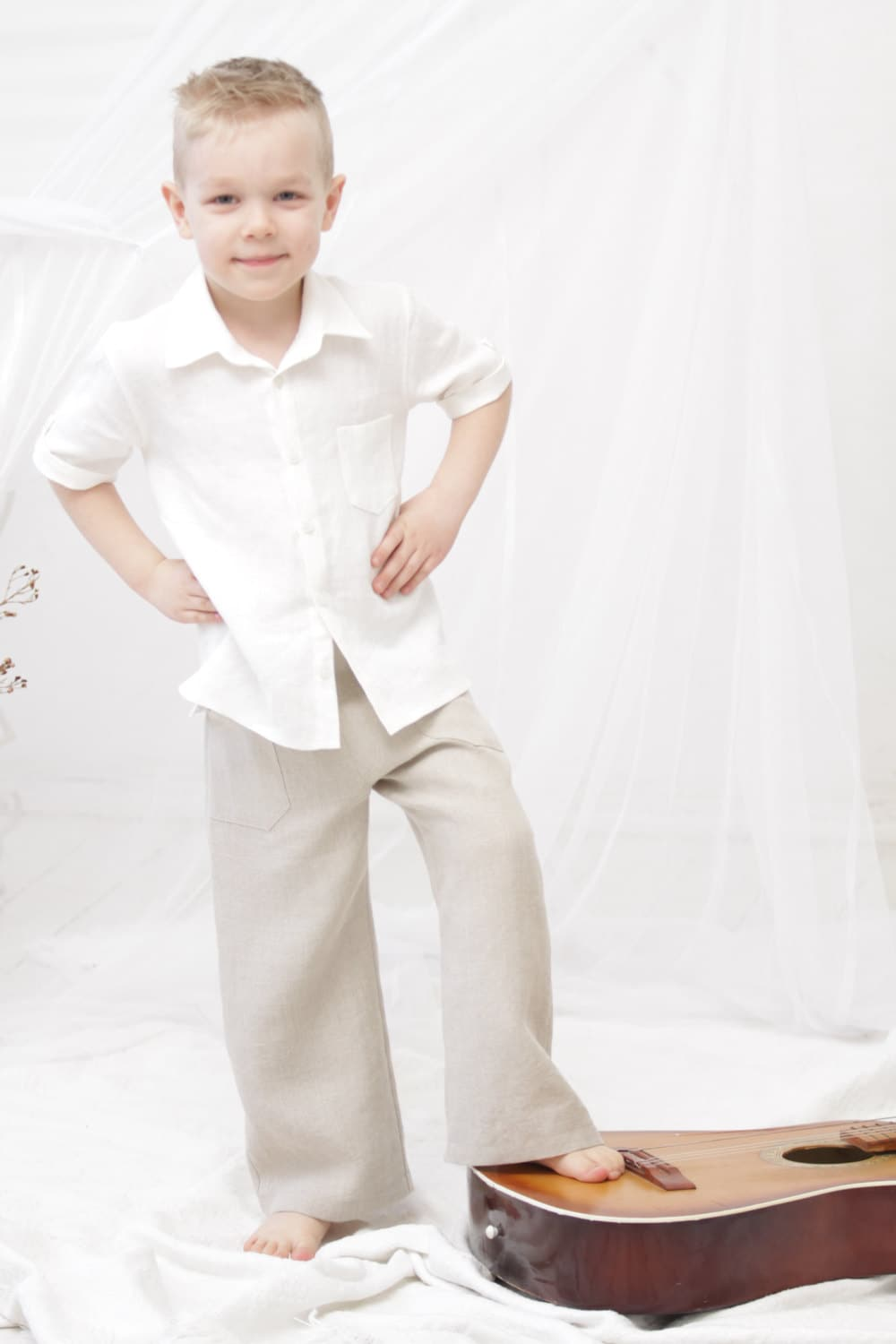 Boys clothes ring bearer shirt boys dress shirt rustic wedding for Boys dress clothes wedding