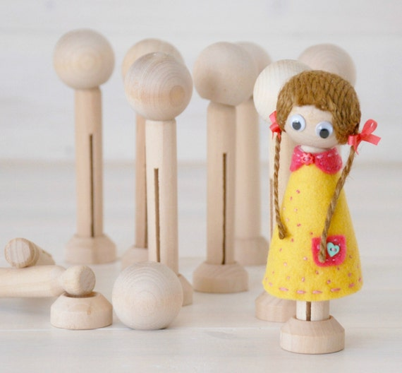 DIY Clothespin Doll 30 Wooden Dolls Wooden Clothespins