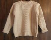 Womens Handloomed Irish Fisherman Sweater