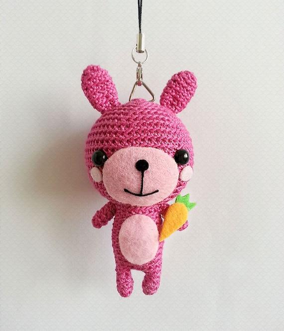 Kawaii Amigurumi Cupcake Keychain : Crochet Easter Bunny Bunny Amigurumi Keychain Kawaii by ...
