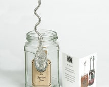 Bee Jam Jar Spoon spoon, Pewter with a hook, bee gifts honey spoons