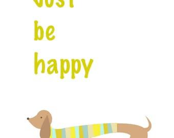 Original print, nursery decor, children room decor, upbeat, positive, colorful dog, life lesson